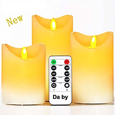 Da by Flameless Candles Realistic Dancing LED Flickering Candles