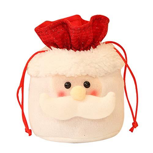 Sayla Weihnachten Deko Weihnacht Weihnachtsmannsack Weihnachtssack Geschenkesack für Weihnachten Süßigkeiten Tasche (A)