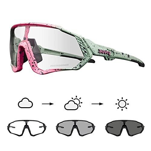 KAPVOE Gafas de Ciclismo Fotocromáticas con TR90 Gafas de Sol Deportivas Mujeres Hombres Running Transparente MTB Accesorios de Bicicleta 05