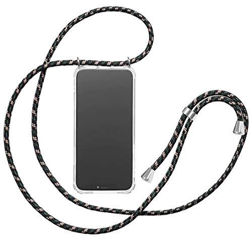 yanzi Funda con Cuerda Xiaomi 9T Redmi K20 Redmi K20 Pro Funda Carcasa Cover Transparente Silicona Case Colgante Ajustable Collar Correa de Cuello Cordón Mini Verde Caso Fundas Carcasa