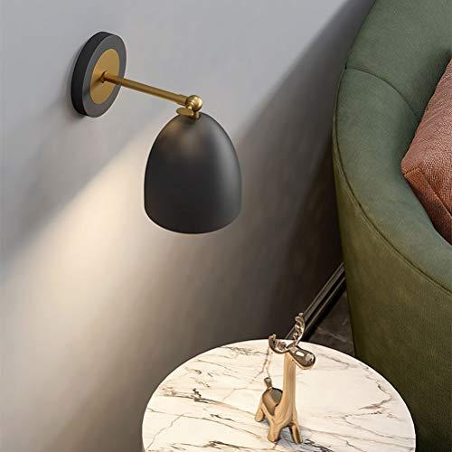 Lámpara de pared retro negra con interruptor y enchufe Lámpara de noche Lámparas de lectura de pared Apliques de pared industrial Vintage E27 Iluminación interior, para sala de estar, dormitorio