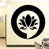 LSMYM Firmar Mandala Buda Lotus Adhesivos de pared para el dormitorio Decoración para el hogar Adhesivo de flores Adhesivos de vinilo Adhesivos de pared Rosa L 43cm X 42cm