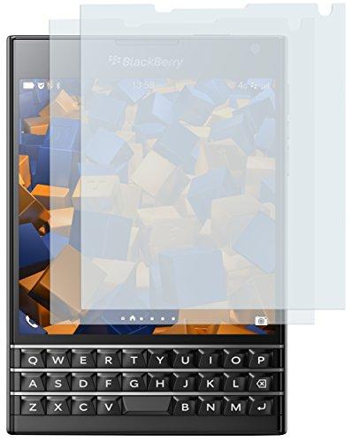 mumbi Schutzfolie kompatibel mit Blackberry Passport Folie klar, Bildschirmschutzfolie (2x)