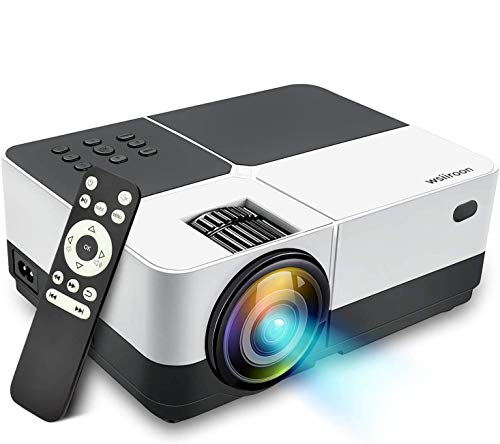 Wsiiroon LED Projector, 2019 Newest Outdoor Portable Movie Video Projector, Home Theater LCD Projector Support 1080P HDMI VGA AV USB SD with 170 Display - 45,000 Hrs