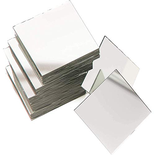 Square Mirror Tiles for DIY Crafts and Home Decorations (2-in, 60-Pack)