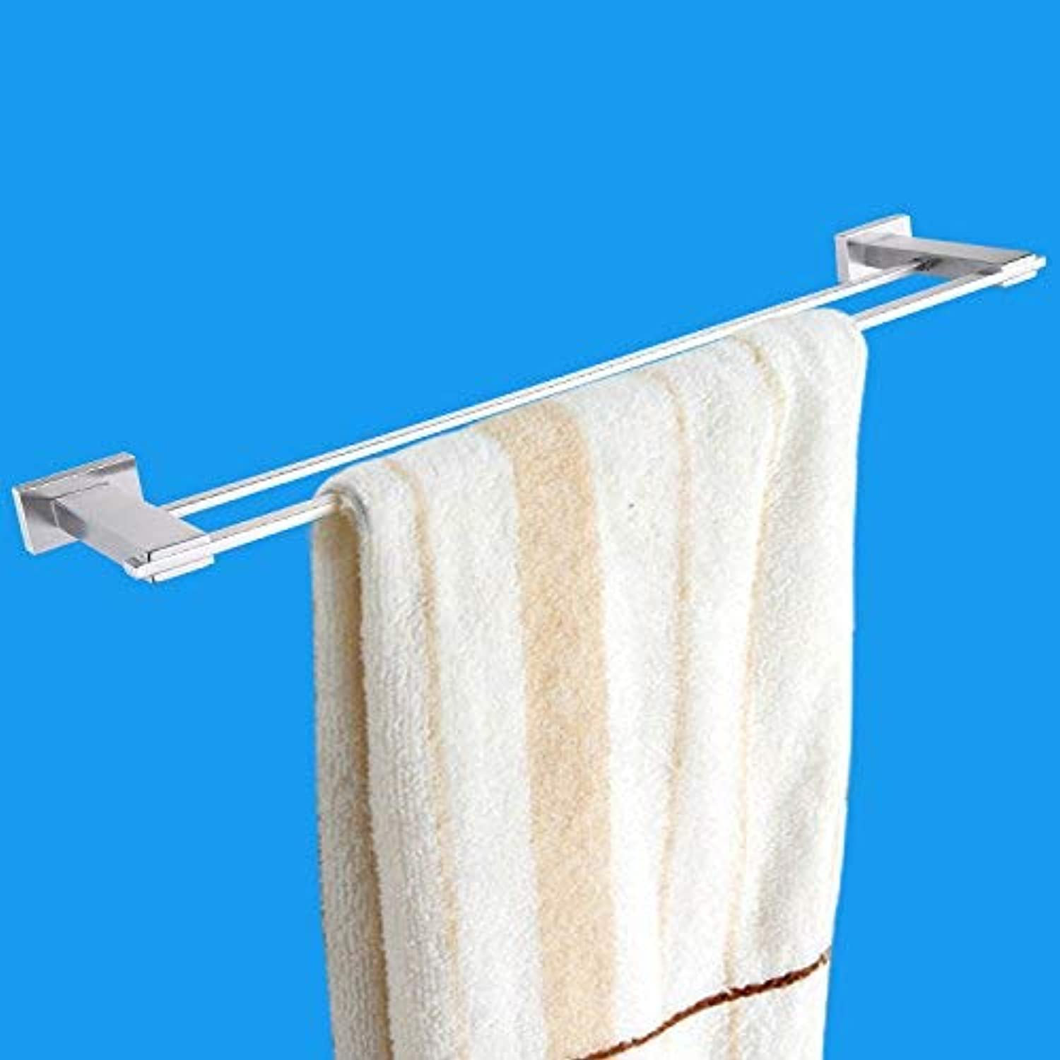 Elegant Towel Stand Quality 304 Stainless Steel, Durable Double Rod Drawing Towel Rod, Bathroom Towel Rack