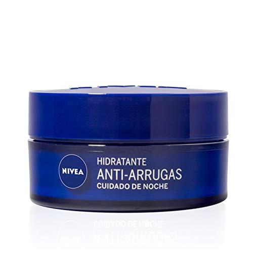 NIVEA Hidratante Anti-arrugas Cuidado de Noche (1x 50 ml), crema antiedad para regenerar la piel y reducir las arrugas, crema hidratante de cuidado facial
