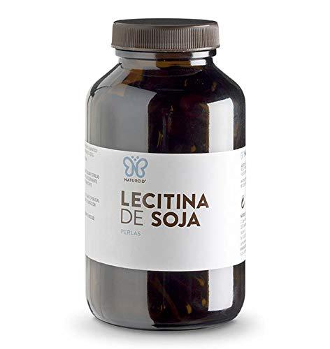 Perlas Lecitina - Naturcid - Perlas - [100perlas - 756mg] - Complemento alimenticio a base de aceite de lecitina de soja IP. (100)