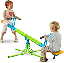 Pure Fun Heavy Duty 360-Degree Kids Swivel Seesaw, Indoor or Outdoor