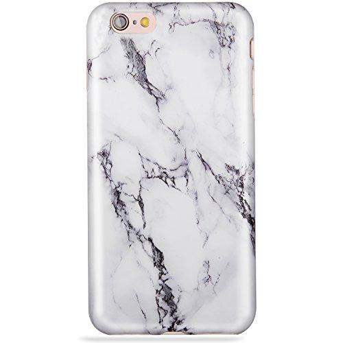 LUMARKE iPhone 6 Plus Case,iPhone 6s Plus Case,Cute Black White Marble for Girls Women Slim Glossy TPU Clear Bumper Soft Rubber Silicone Best Protective Phone Case Cover for iPhone 6 6s Plus