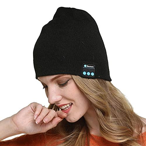 Bluetooth Hat Cappello per Altoparlante Musicale Aggiornato V5.0 Cappellino da Corsa con Altoparlanti Stereo e Microfono, Cappello Invernale Unisex per Regali di Natale