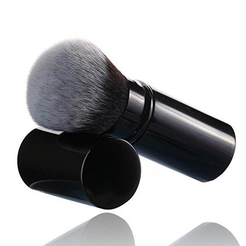 Sinide Lot de pinceaux de maquillage professionnels Kabuki rétractables pour fond de teint, poudre minérale, contour, crème ou cosmétiques liquides