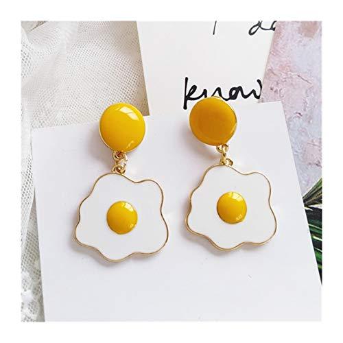 LCHB Temperamento de Moda Huevo Yolk Tassel Pendientes para Mujer (Color : Gold Color)