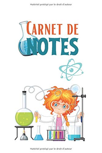 Carnet de notes: Format moyen  150 feuilles lignées  Pour consigner vos écrits  carnet de l'élève science  cahier physique chimie 5ieme  carnet ... 4 pages pour vos contacts  mon carnet de labo
