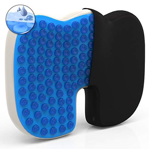 Mosswell® Ergonomisches Sitzkissen. Lässt Steißbein schweben. Steissbeinkissen mit Gel | Natürliches Sitzen | Lange Haltbarkeit. Sitzkissen für Bürostuhl | Inkl. Ebook