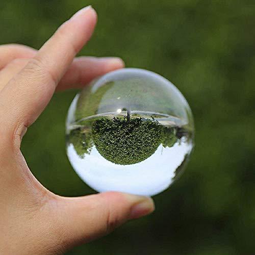 Zarupeng kristalkogel heldere glazen ballen genezing bal waarsbal fotografie rekwisieten lensbal geschenk bruiloft/kantoor decoratie, Ø 40mm / 50mm B( Ø 50mm ) transparant