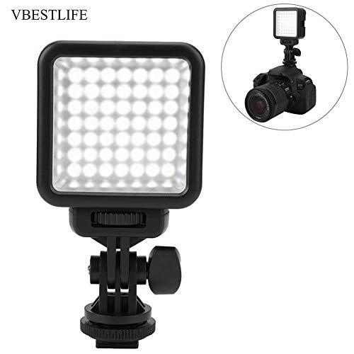 Topiky Mini 49 LED dimbaar op camera video licht 6000 K kleurtemperatuur voor camera LED-lamp met draaibare koude schoen sokkel