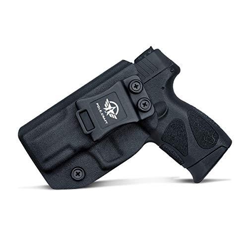 Taurus G2C Holster, Kydex IWB Holster for G2C Taurus Holster & Millennium PT111 G2 / PT140 Concealed Holster Taurus G2C 9mm - Kydex Holster Taurus PT111 G2C Concealed Carry Pistol Case (Black, Left)
