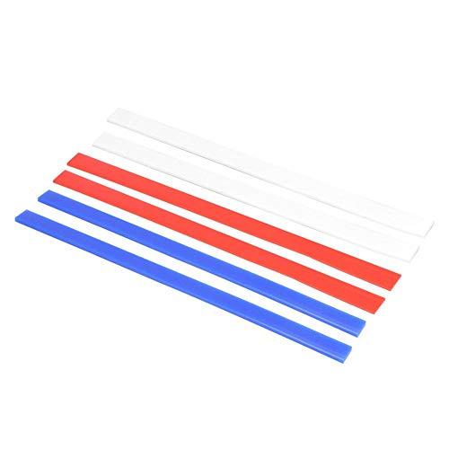 6PC profesjonalne silikonowe paski pomiarowe wielokrotnego użytku nieprzywierające paski perfekcyjne, 15 cali / 3 rozmiary Grubość-2 mm / 4 mm / 6 mm