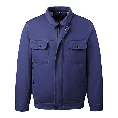 YYH Fan Kühl Jacke Berufsbekleidung Unisex Klimaanlage Kleidung Mit Batteriepack Für High Temp Worker Sommer Im Freien Klimaanlage Kleidung,Dark Blue,4XL