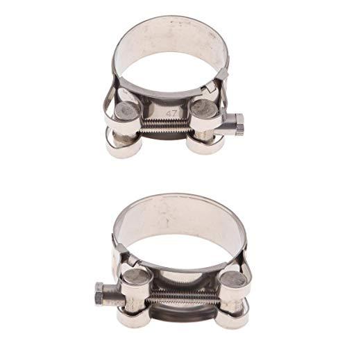 Almencla Clip de Abrazadera de Tubo de Escape Acero Inoxidable 44-47 mm; 48-51mm