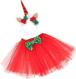 Distinguished Elegant Pack of 2 Lovely Baby Girls Romper Tutu Skirt Dress Unicorn Horn Hairband Clothes Photography Prop -...