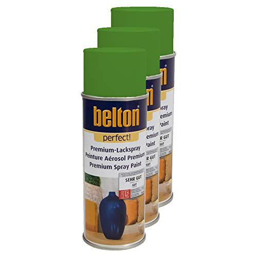 Kwasny 3X Belton Perfect Lackspray Lack Spray Spraylack Premiumlack Premiumlackspray Premium Perfect Hellgruen 400 Ml