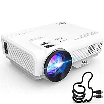DR J Professional 4500L Mini Projector Full HD 1080P Supported Portable Video Projector Compatible With TV Stick HDMI VGA USB TF AV Sound Bar Video Games [2020 Latest Upgrade]