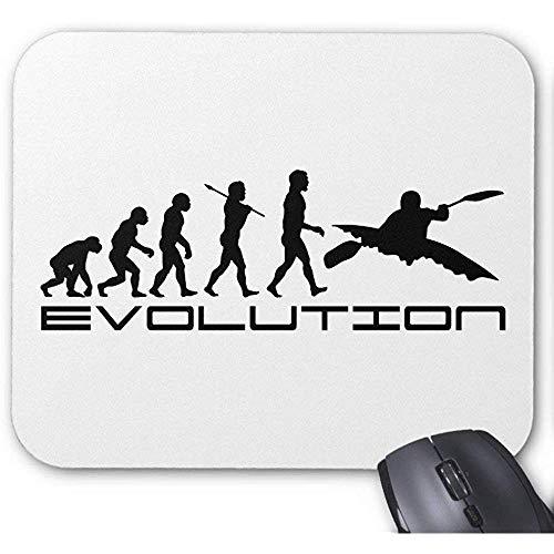 Mousepad Kayak Evolutie ~ kajakken water sport muismat 25X30Cm