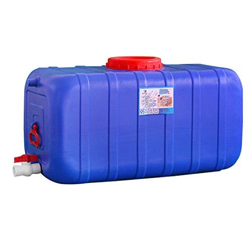 Gardening tools Wasserfass Wasserspeicherbehälter, Rechteck Flachboden Wassertank Gartenwassertrommelreservoir, Notwasserspeicher aus Kunststoff in Lebensmittelqualität, Regenfass Regensammler