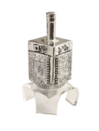 Best Price Hanukkah Chanukka Big Dreidel 925 Sterling Silver, Old Jerusalem Skyline Hand Made Size: ...
