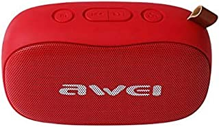 awei Y900 Mini Portable Wireless Bluetooth Speaker Noise Reduction Mic, Support TF Card/AUX (Red)
