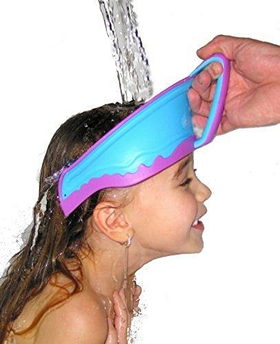 HapiLeap Bebè Doccia Cappello Vasca Protettore Bebè Bambino Piccolo Regolabile Silicone Shampoo Cappello Bagno Scudo Rinser