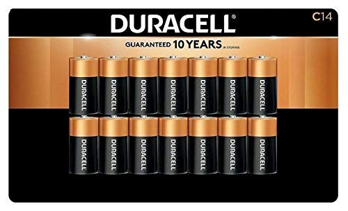Duracell Alkaline C Batteries | Long Lasting Power CopperTop All Purpose C Battery For Household And Business - 14 Count