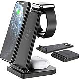 Station de charge sans fil rapide pour iPhone 12/11 / 11Pro Max/XR/XS Max/Xs/X / 8 / 8P, iWatch...