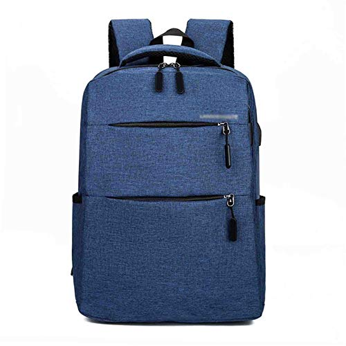LYNNDRE Laptop Backpack, Business Slim Durable Laptops Backpack with USB Charging Port, College School Computer Bag Gifts for Men & Women Fits 15.6 Inch Notebook,Blue