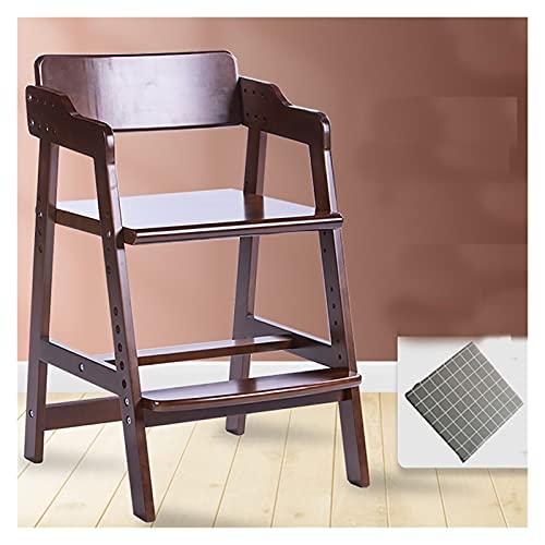 Trona Alta de Madera,silla alta plegable,Trona de madera evolutiva bebés,Apto para Recien Nacidos Combinando,silla alta playa plegable ligera,Silla de altura regulable crece con el niño 6meses-10 años