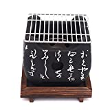 DZAY Japanese Barbecue Grill,Mini <span class='highlight'>Charcoal</span> BBQ Grill Table Top <span class='highlight'>Charcoal</span> Japanese Portable Cooking,Portable Tabletop Japanese BBQ Grill Food <span class='highlight'>Charcoal</span> Stove with Wire Mesh Grill and Base (<span class='highlight'>Square</span>)