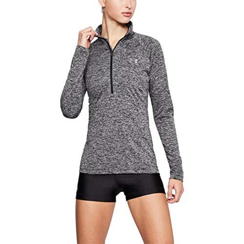 Under Armour Play Up Shorts 3.0, atmungsaktive Sporthose, komfortable Sportshorts mit loser Passform Damen, Black / Black / White, M