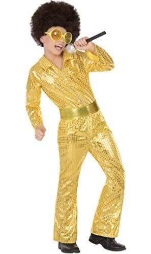 Atosa-56905 Disfraz Disco, Color Dorado, 5 a 6 años (56905)