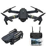Qnlly Drone 720P Drone Caméra HD Quadcopter HD, Bras Pliable, Drone FPV avec caméra pour Enfants Adultes (2 Piles, 1 étui de Transport),0.3MP