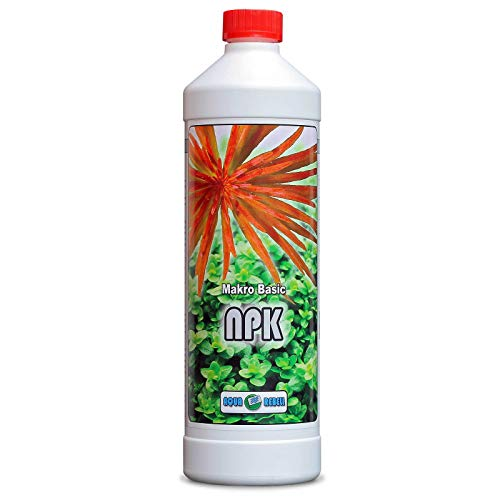 Aqua Rebell ® Makro Basic NPK Dünger - 1 Literflasche - optimale Versorgung für Ihre Aquarium Wasserpflanzen - Aquarium Dünger speziell für Wasserpflanzen entworfen