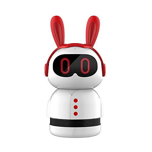 MWJK® Robot De Educacion Temprana WiFi Inteligente Conversación de Voz Maquina de Historias Niño Maquina de Aprendizaje Mejorar La Inteligencia Juguete Robot,Red