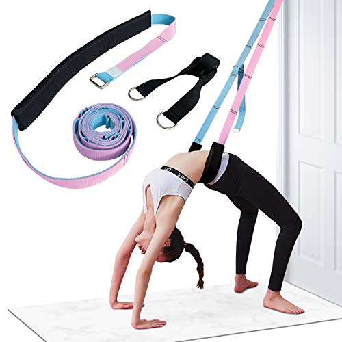 Ardella Yoga Fitness Exercise Stretching Strap – Leg and Waist Flexibility Workout, Back Bend Assist Trainer, Home Equipment for Rehab Dance Cheerleading Gymnastics Ballet Splits