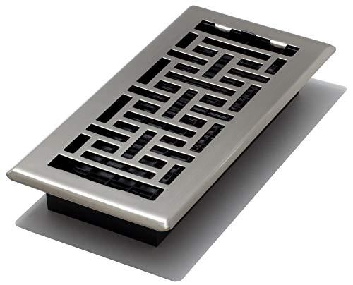 """Decor Grates AJH410-NKL Floor Register, 4"""" x 10"""", Nickel"""