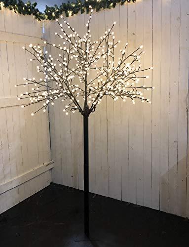 Bonetti LED Lichterbaum mit 500 warm-weißen Lichtern beleuchtet, 220 cm hoch, die Lichterzweige sind flexibel, Weihnachtsbaum mit Lichterkette
