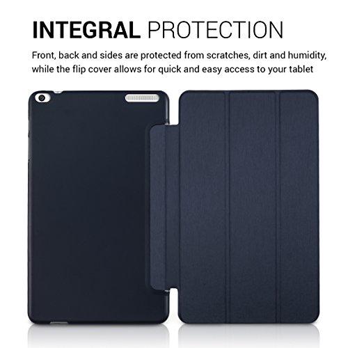 kwmobile Huawei MediaPad T1 10 Hülle - Smart Cover Tablet Case Schutzhülle für Huawei MediaPad T1 10 - Dunkelblau - 4
