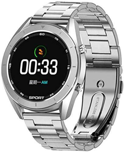 Reloj inteligente para hombre, monitor de ritmo cardíaco, presión arterial, oxígeno IP68, impermeable, cronómetro, ECG+PPG, reloj inteligente Pk Dt78 L13 E Moda/G-C