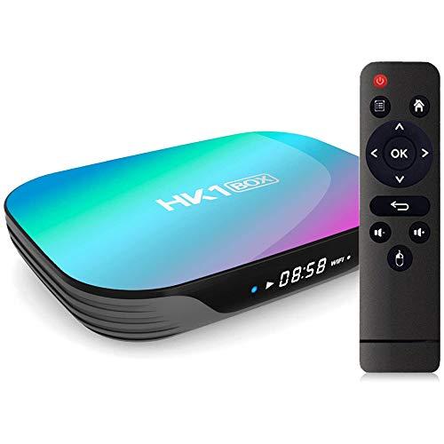 Sofobod HK1 Box TV Box Android 9.0, 4GB RAM 128GB ROM, S905X3 Quad Core 64bit Cortex-A55, GPU G31™ MP2, 2.4G/5G Dual WiFi BT4.0 H.265 Decoding LAN 1000 RJ-45, HD 8K Smart TV Box