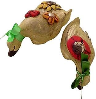 Tris Papere a Testa in Giu in Ceramica Decorativa Da Mensola Da Collezione - Le Ceramiche Del Re